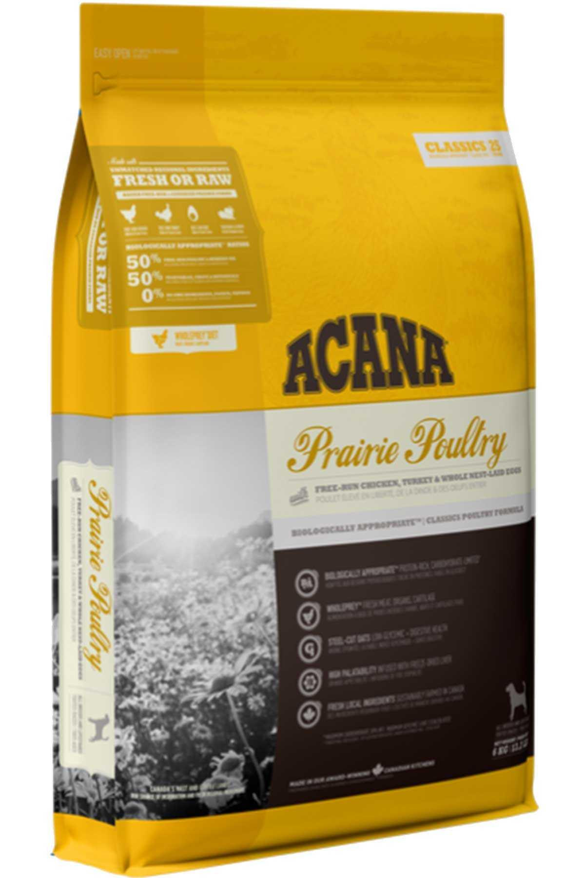 Acana Prairie Poultry Tavuk ve Hindi Etli Köpek Maması 17kg