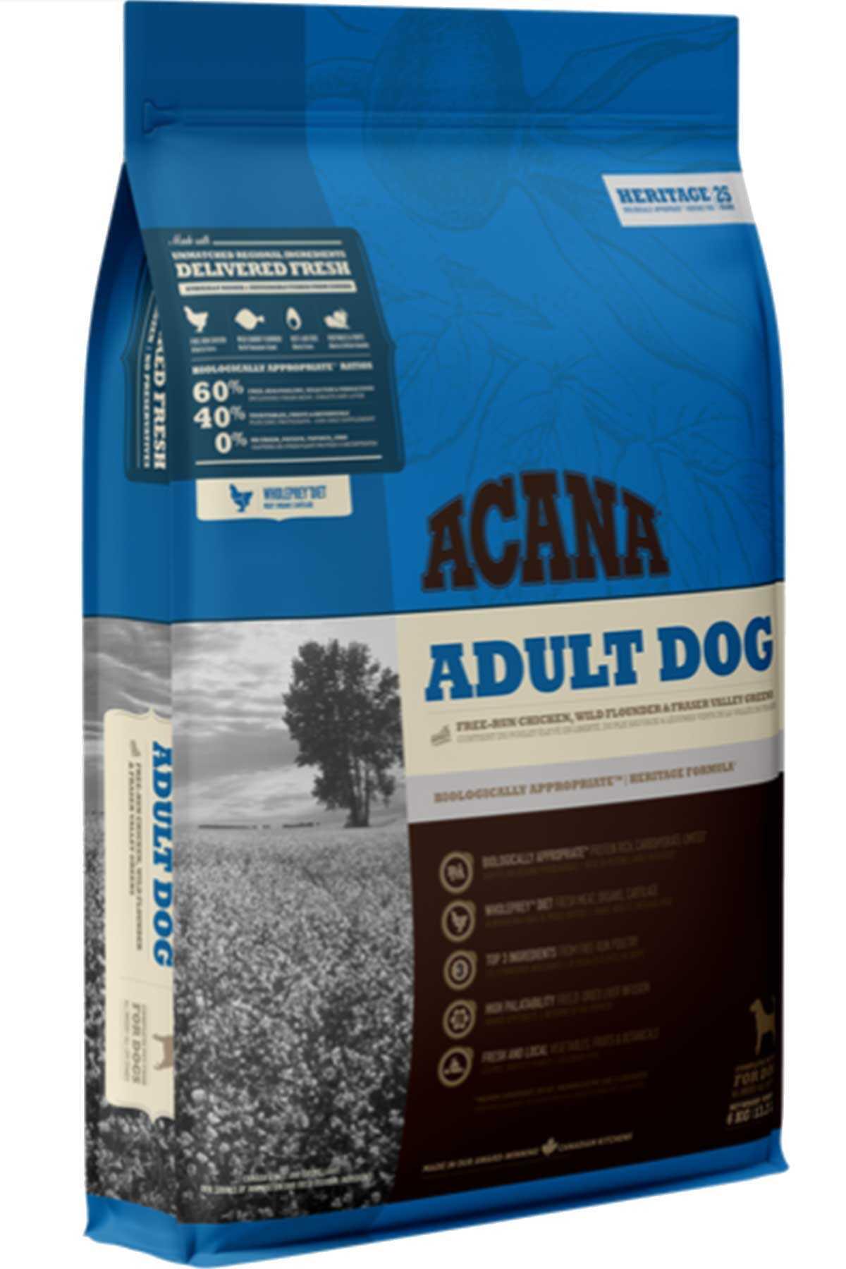 Acana Adult Dog Tahılsız Tavuk ve Balıklı Yetişkin Köpek Maması 17kg
