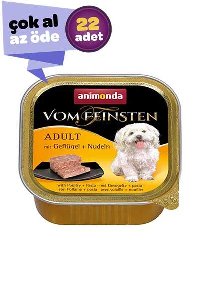 Animonda Kümes Hayvanı ve Makarnalı Yetişkin Köpek Konservesi 22x150gr (22li)