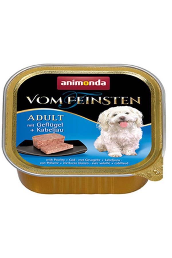 Animonda Kümes Hayvanı ve Morina Balıklı Yetişkin Köpek Konservesi 150gr