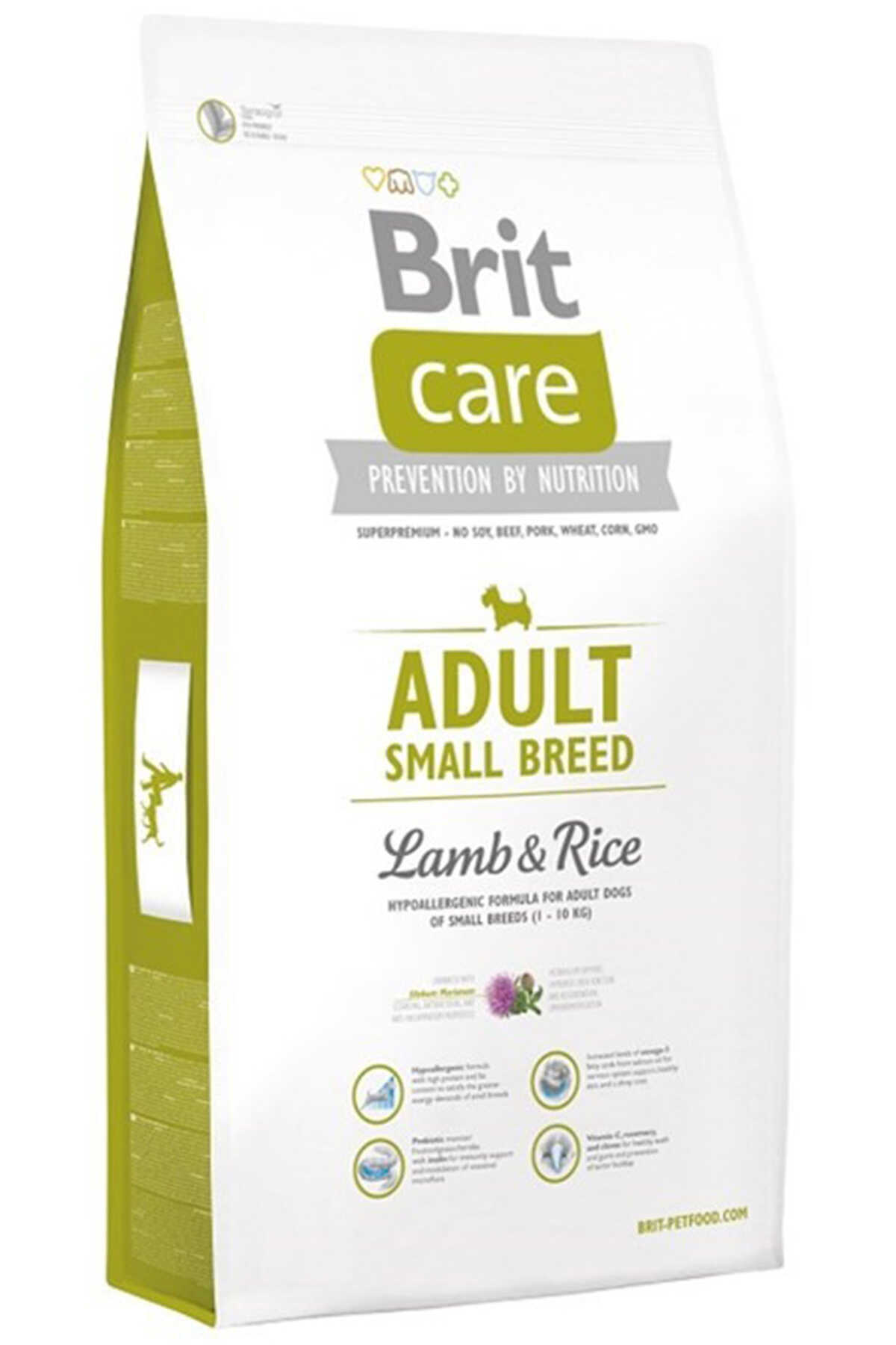 Brit Care Kuzu Eti ve Pirinçli Küçük Irk Yetişkin Köpek Maması 7kg