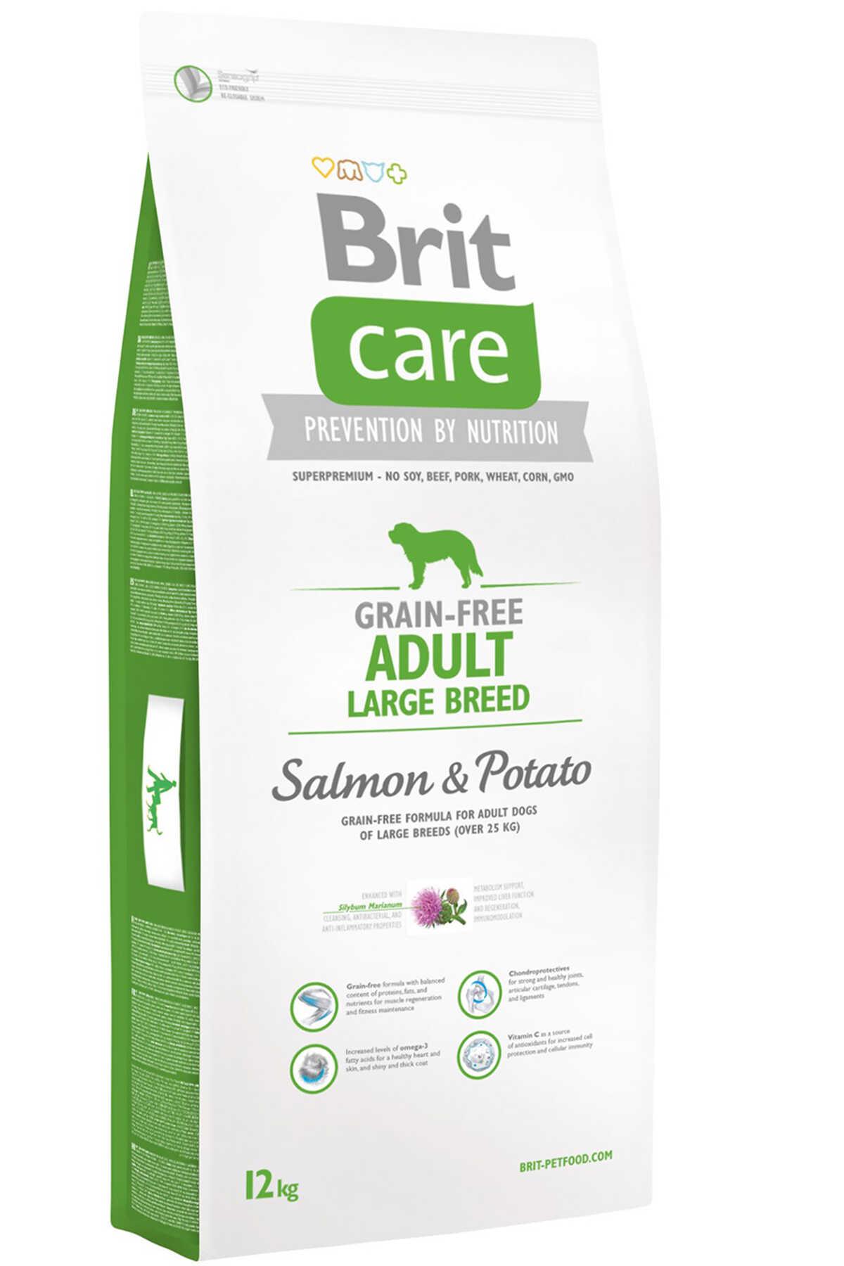 Brit Care Tahılsız Somon ve Patatesli Büyük Irk Yetişkin Köpek Maması 12kg