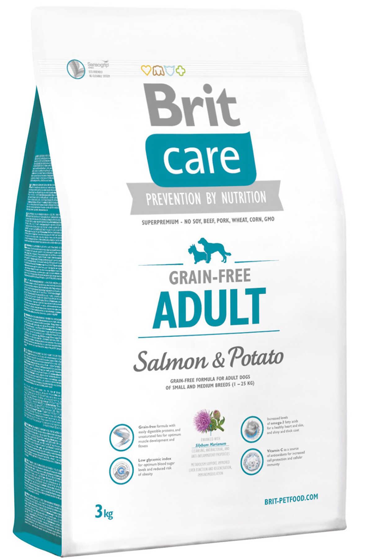 Brit Care Tahılsız Somon ve Patatesli Yetişkin Köpek Maması 3kg