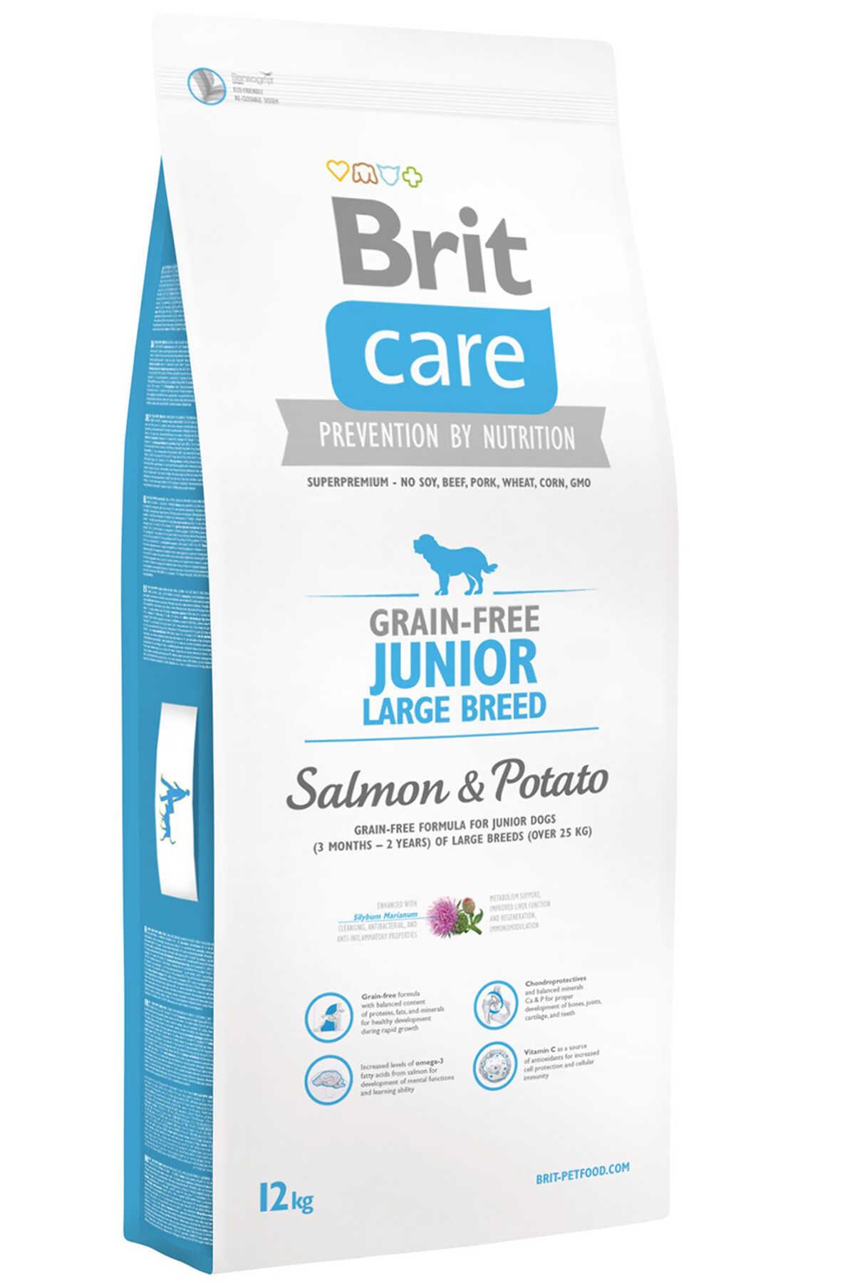 Brit Care Junior Tahılsız Somon ve Patatesli Büyük Irk Yavru Köpek Maması 12kg