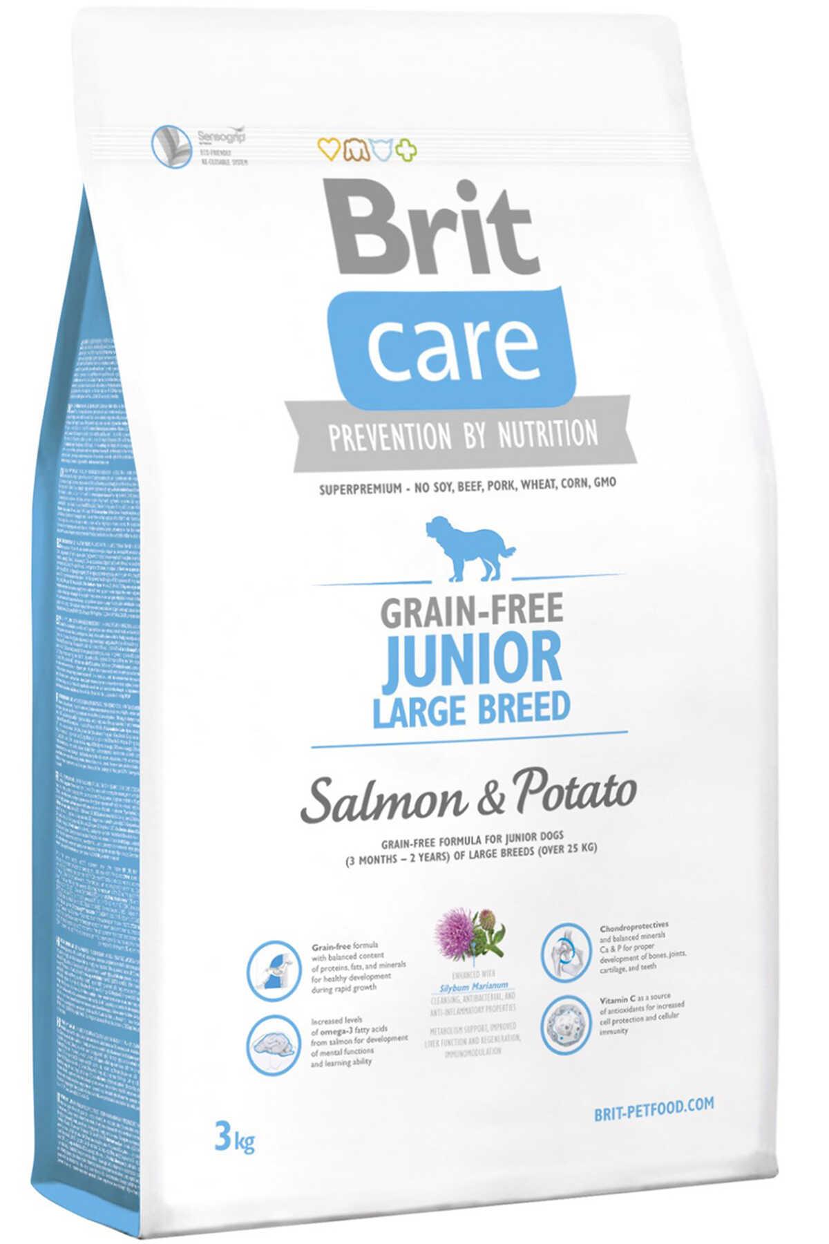 Brit Care Junior Tahılsız Somon Patatesli Büyük Irk Yavru Köpek Maması 3kg