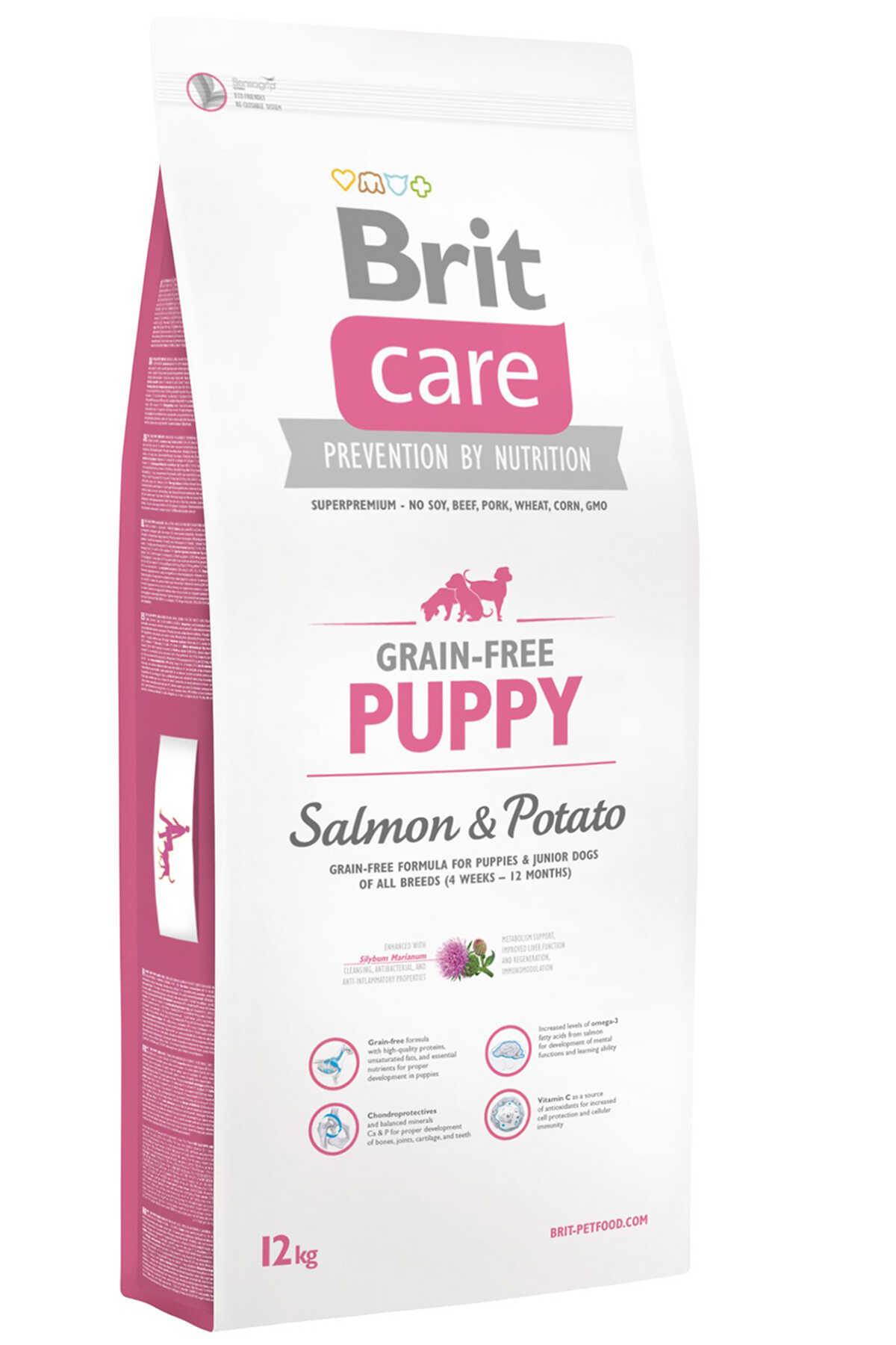 Brit Care Puppy Tahılsız Somon ve Patatesli Yavru Köpek Maması 12kg