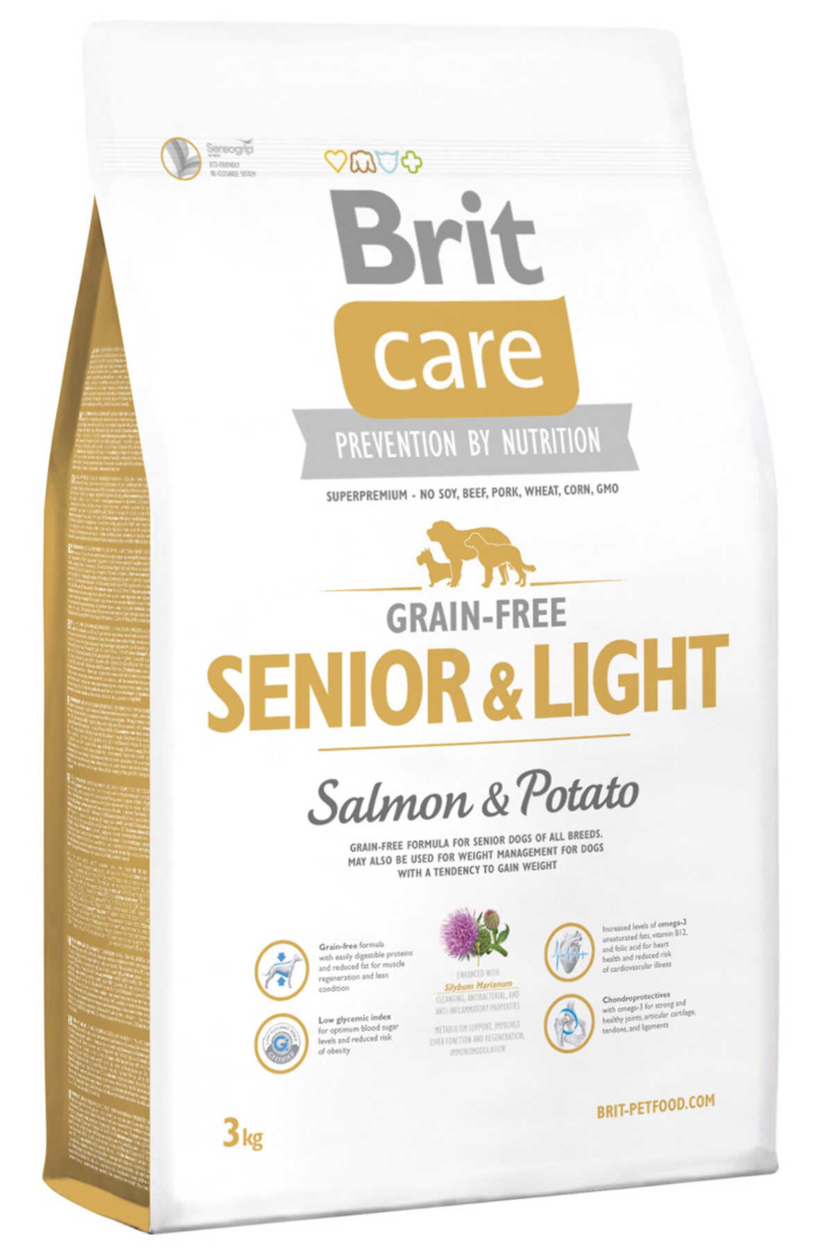 Brit Care Senior & Light Tahılsız Somon ve Patatesli Yaşlı Köpek Maması 3kg