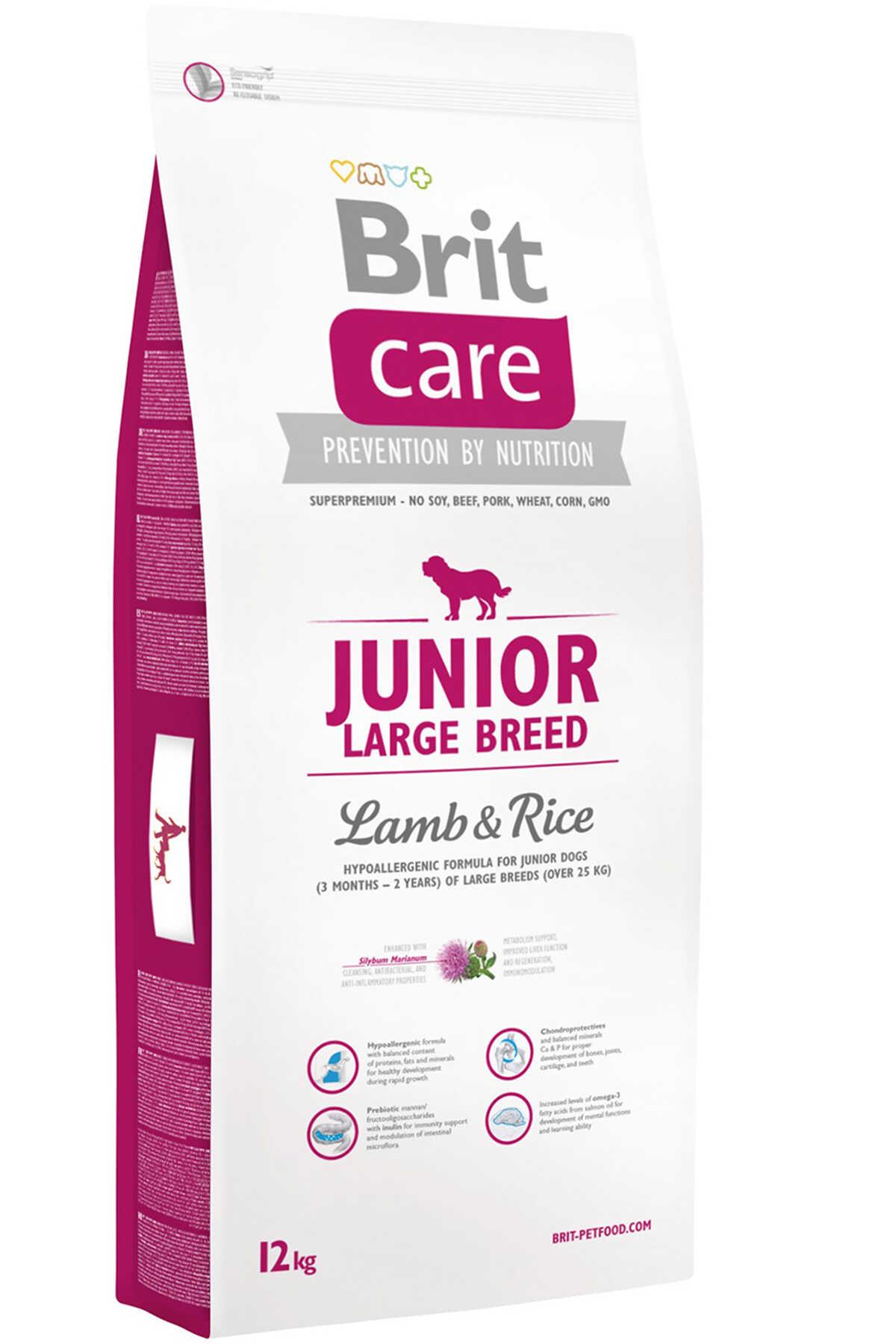 Brit Care Junior Kuzu ve Pirinçli Büyük Irk Yavru Köpek Maması 12kg