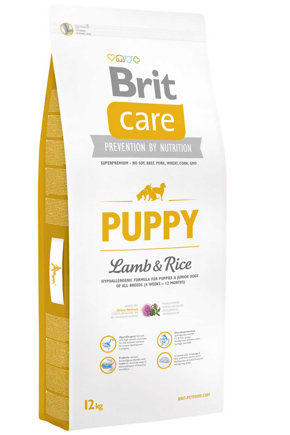 Brit Care Puppy Kuzu Eti ve Pirinçli Tüm Irklar İçin Yavru Köpek Maması 12kg