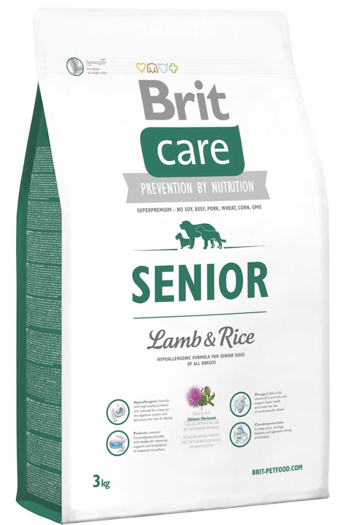 Brit Care Kuzu Eti ve Pirinçli Yaşlı Köpek Maması 3kg