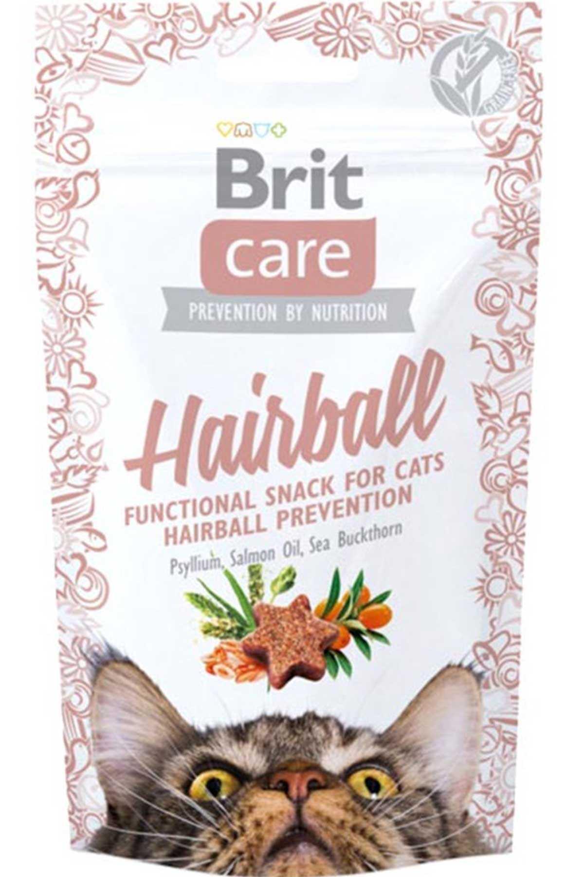 Brit Care Snack Hairball Tüy Yumağı Önleyici Ördekli Kedi Ödül Maması 50gr