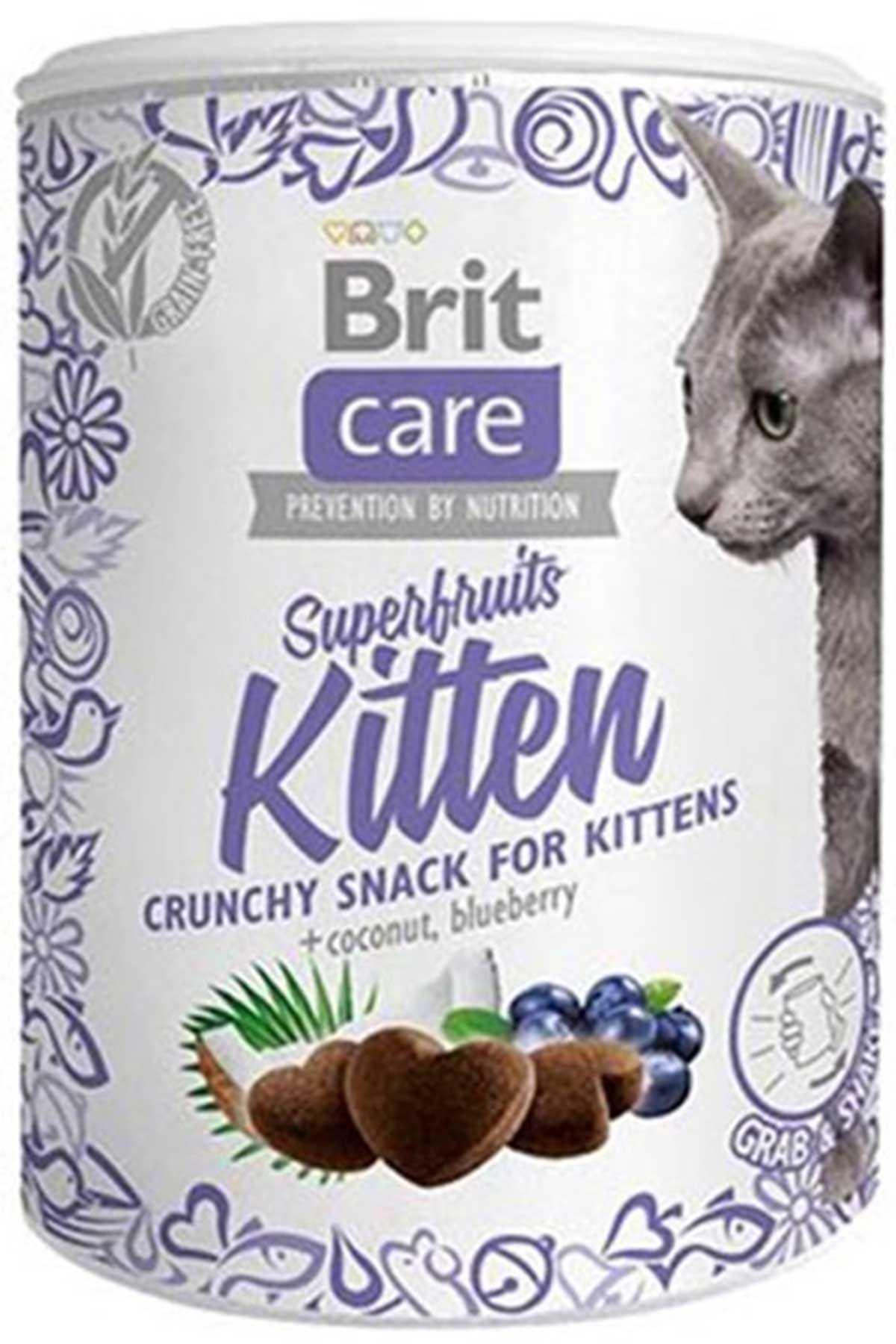 Brit Care Snack SuperFruits Yavru Kedi Ödül Maması 100gr