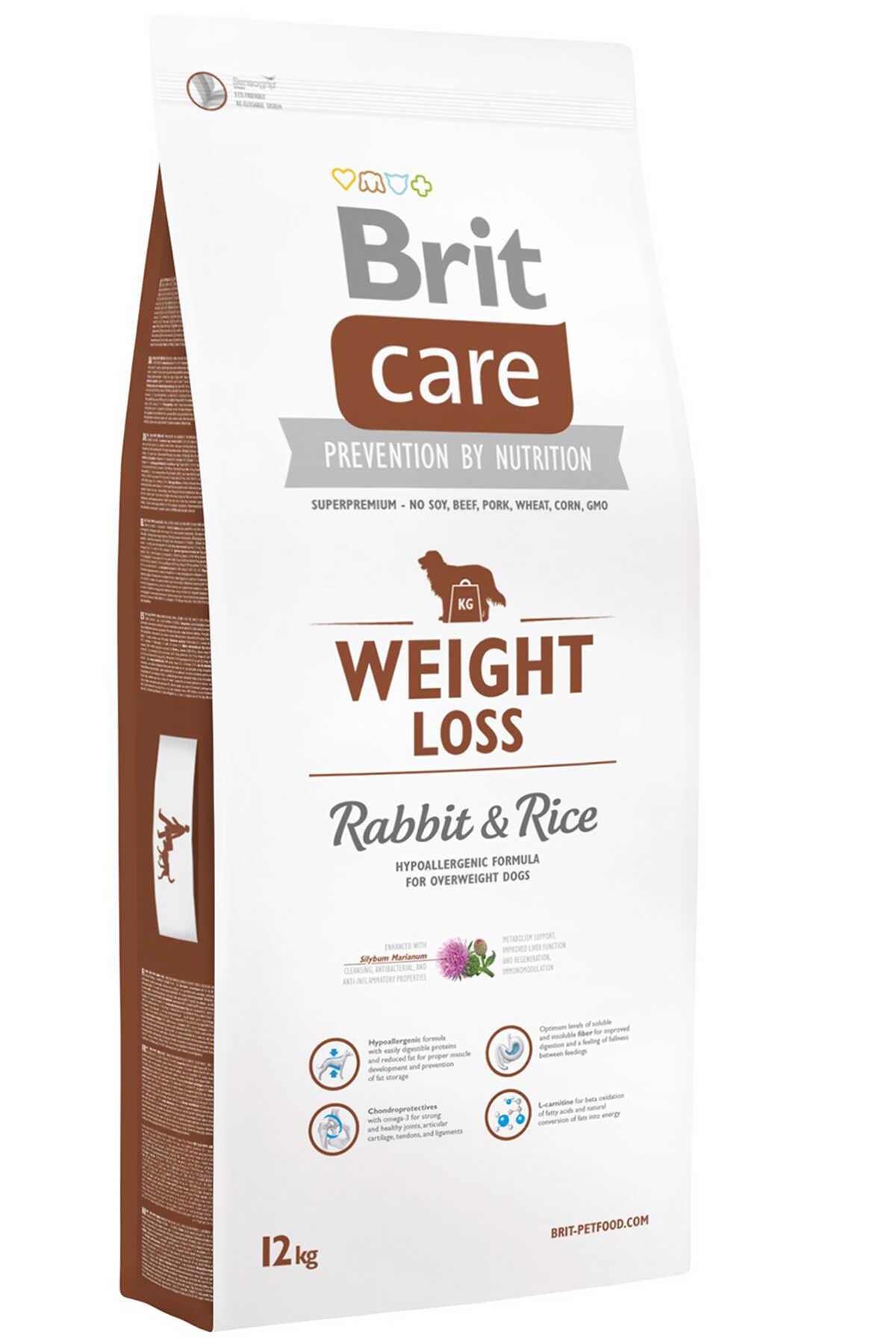 Brit Care Weight Loss Tavşan ve Pirinçli Kilolu Köpekler için Yetişkin Köpek Maması 12kg