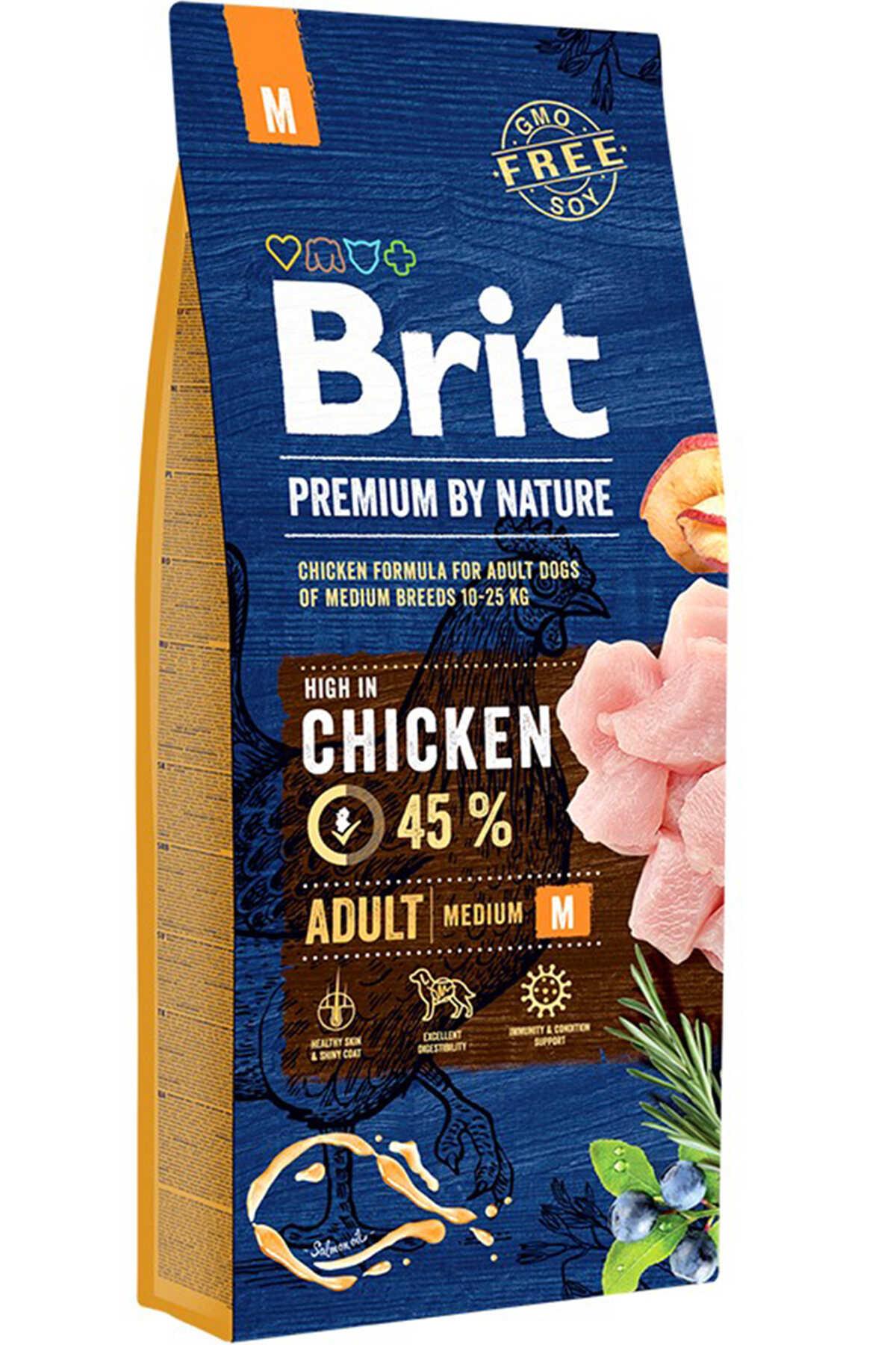 Brit Premium Nature Adult Tavuklu Orta Irk Yetişkin Köpek Maması 15kg