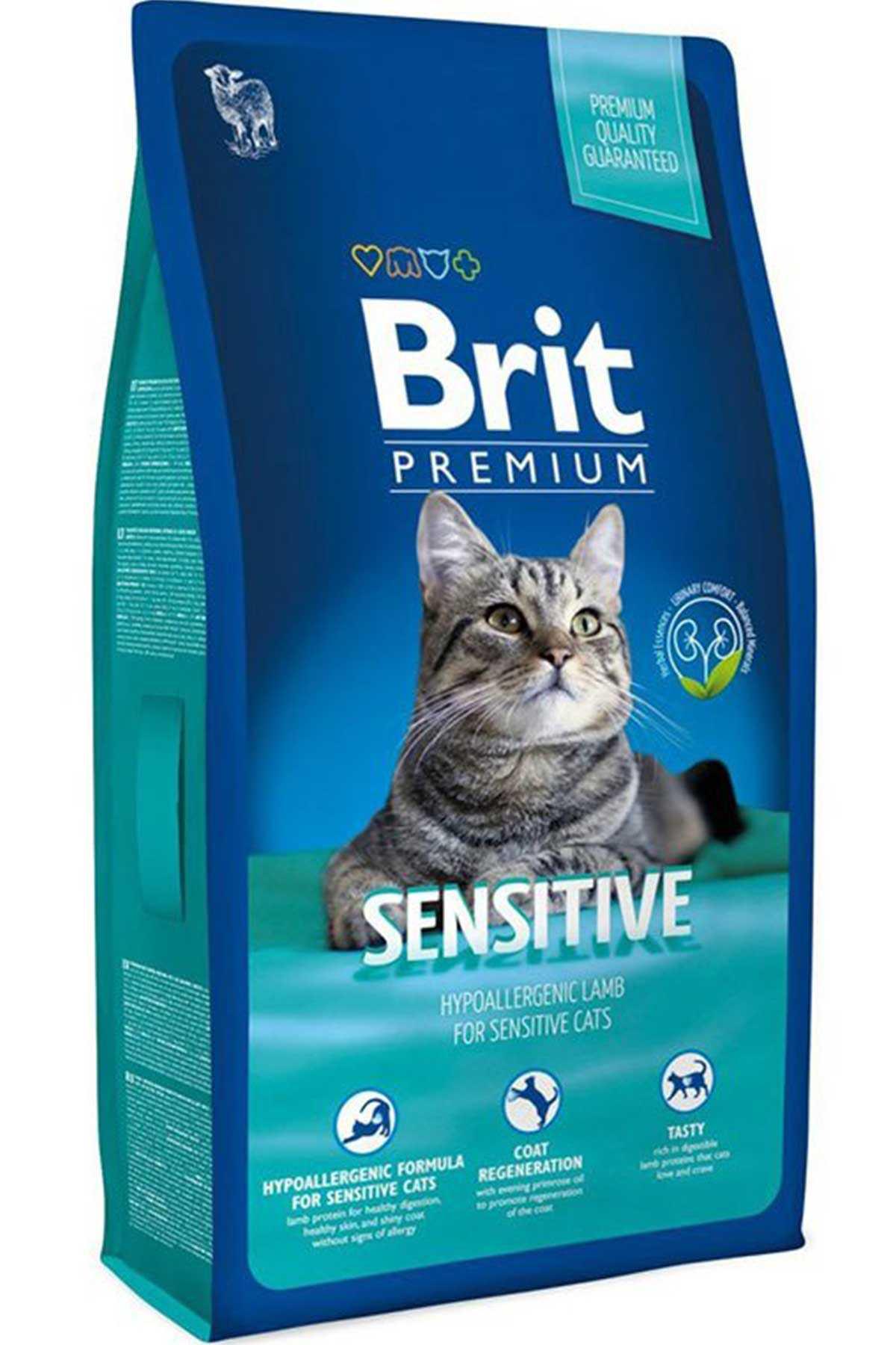 Brit Premium Sensitive Kuzu Etli Hassas Yetişkin Kedi Maması 8kg