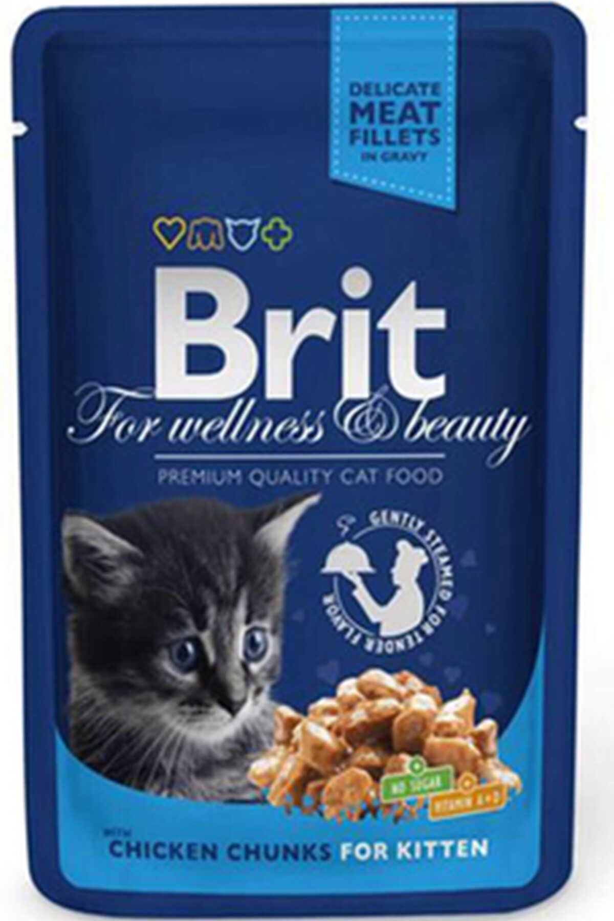 Brit Tavuk Parçalı Yavru Kedi Konservesi 100gr