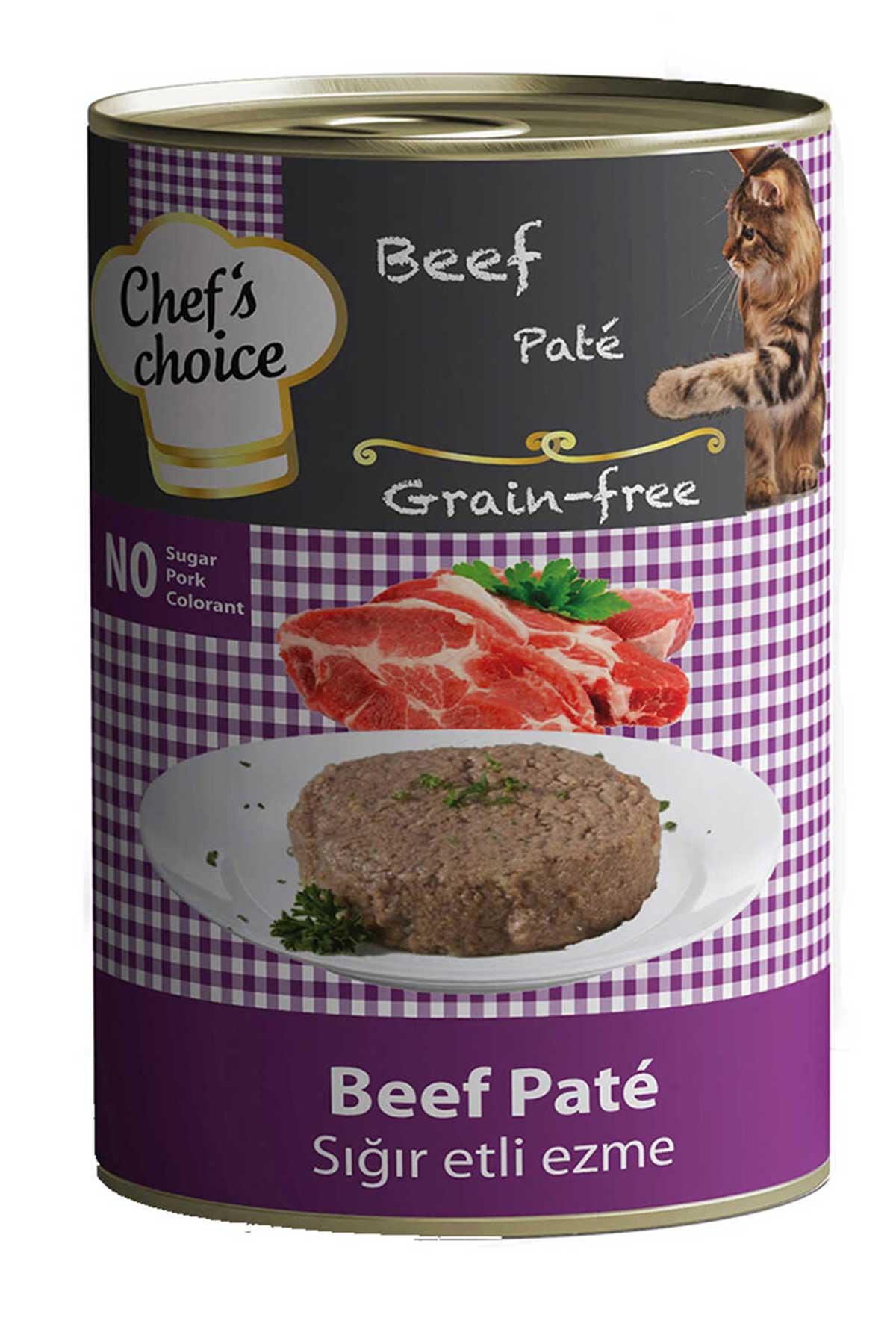 Chefs Choice Tahılsız Biftekli Yetişkin Kedi Konservesi 400gr