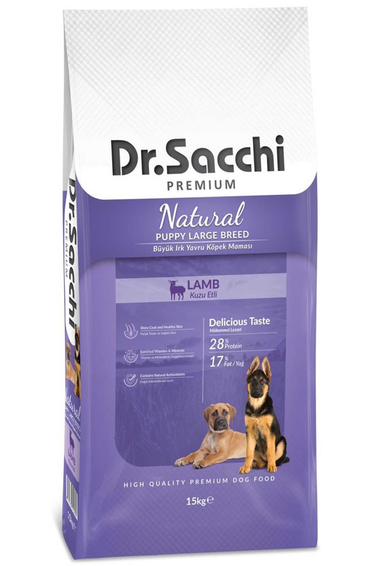 Dr.Sacchi Kuzu Etli Büyük Irk Yavru Köpek Maması 15kg