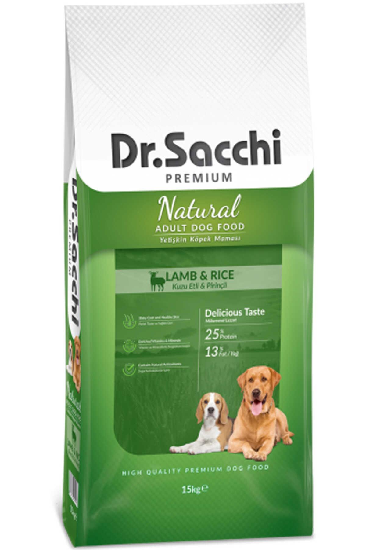 Dr.Sacchi Kuzu Etli ve Pirinçli Yetişkin Köpek Maması 15kg