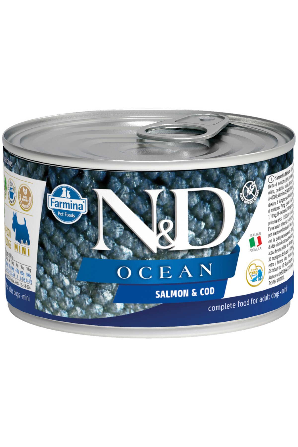 ND Ocean Tahılsız Somon ve Karidesli Yetişkin Köpek Konservesi 140gr