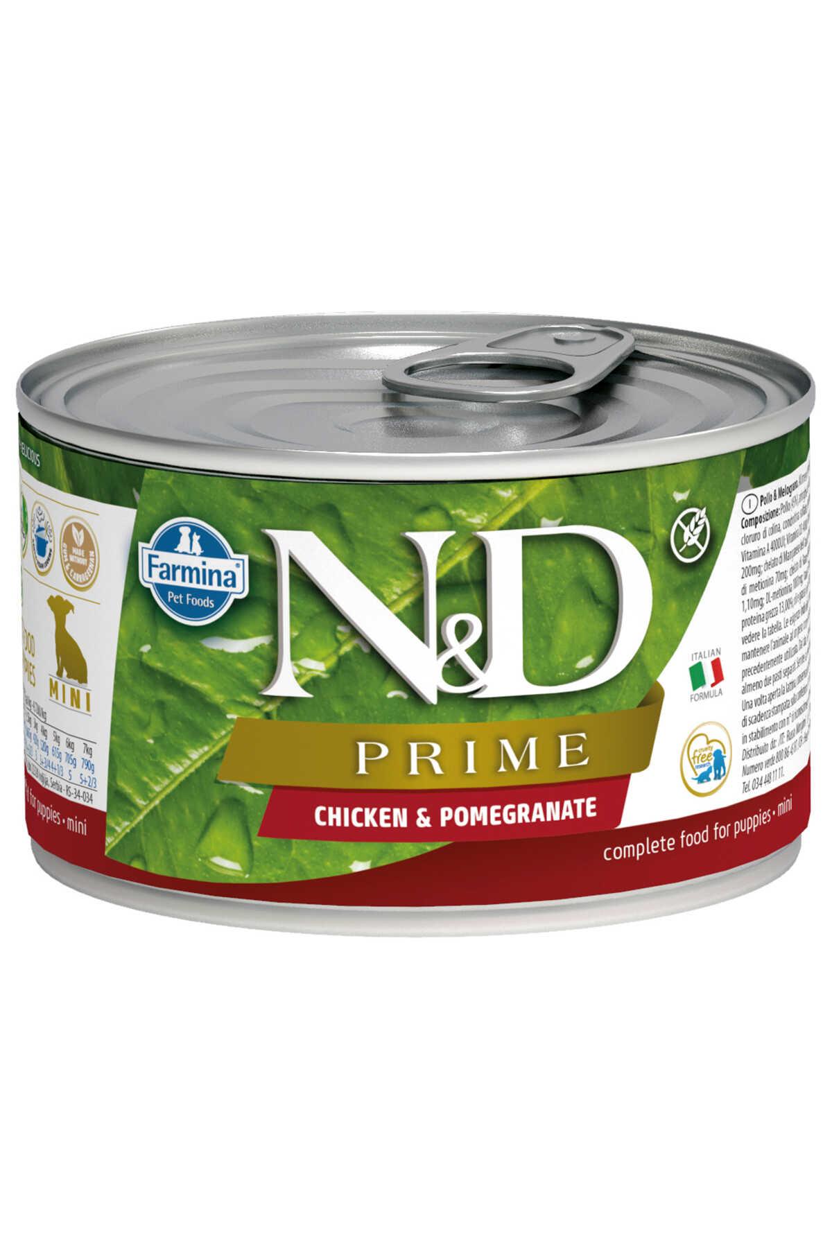 ND Prime Tahılsız Tavuk ve Narlı Yavru Köpek Konservesi 140gr