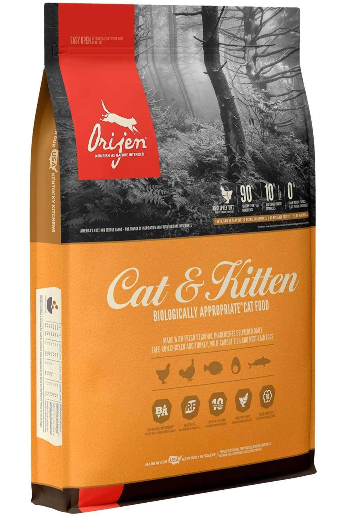Orijen Cat & Kitten Tahılsız Yavru ve Yetişkin Kedi Maması 17kg