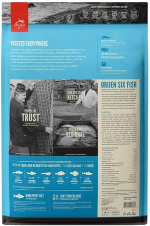 Orijen Six Fish Tahılsız Balıklı Yetişkin Köpek Maması 11,4kg - Thumbnail