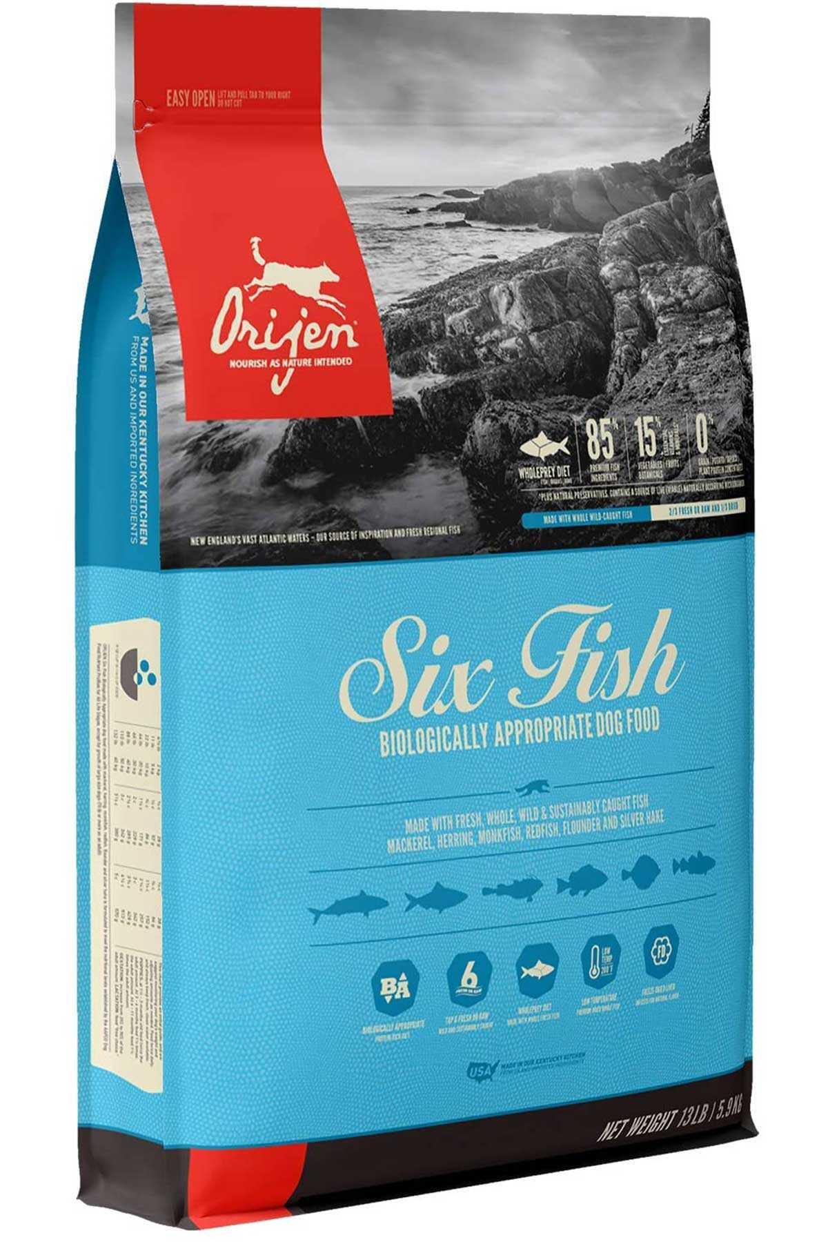 Orijen Six Fish Tahılsız Balıklı Yetişkin Köpek Maması 11,4kg