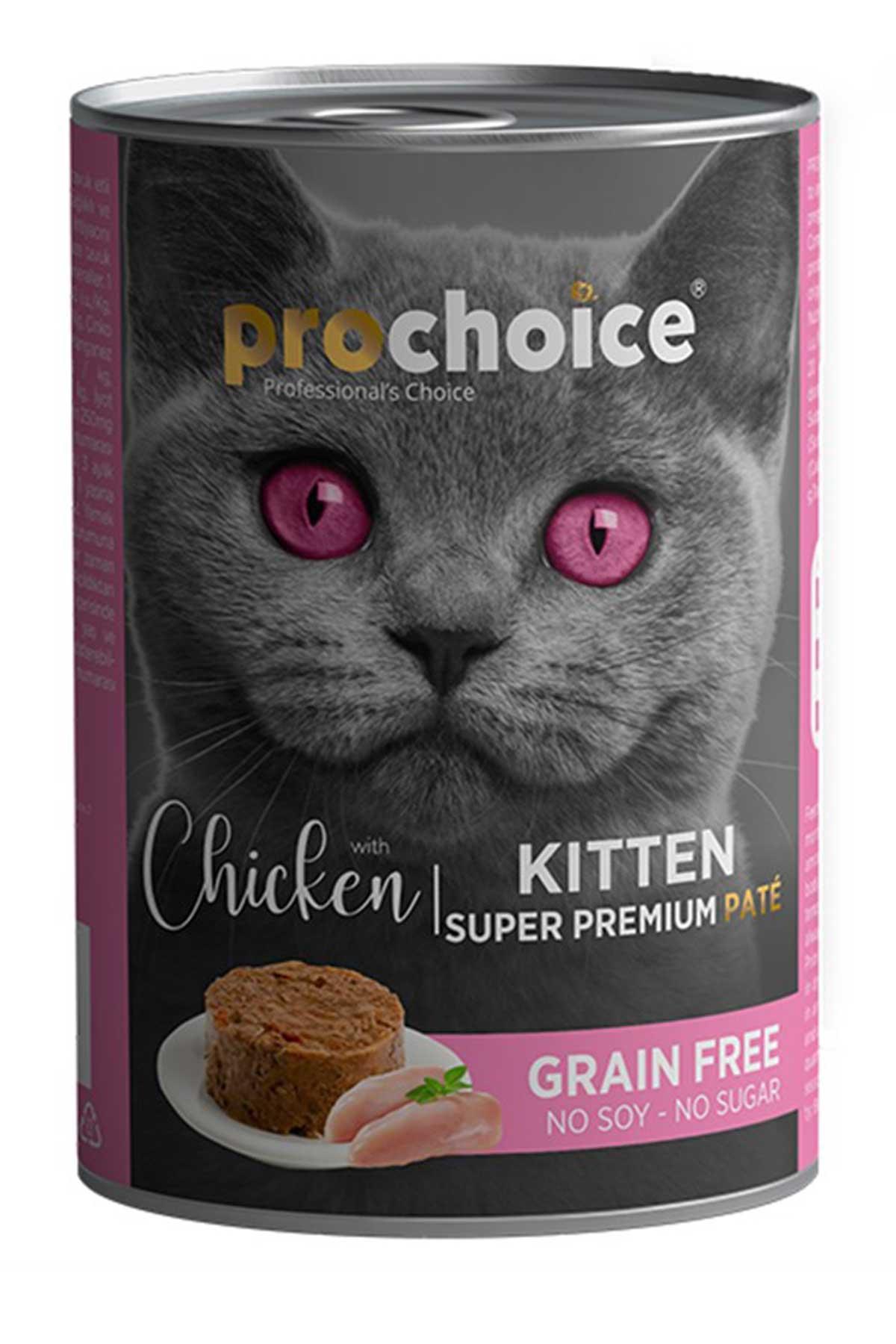 Pro Choice Kitten Tavuklu Yavru Kedi Konservesi 400 Gr
