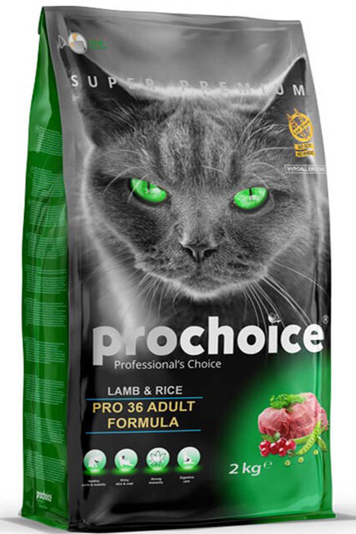 Pro Choice Pro 36 Kuzu Eti ve Pirinçli Yetişkin Kedi Maması 2kg