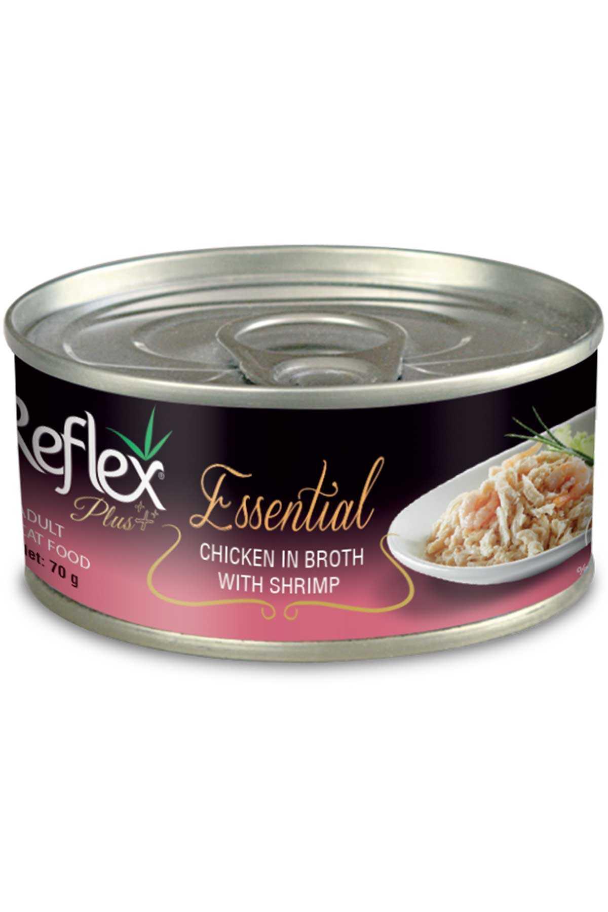 Reflex Plus Tavuk ve Karidesli Kedi Konservesi 70gr