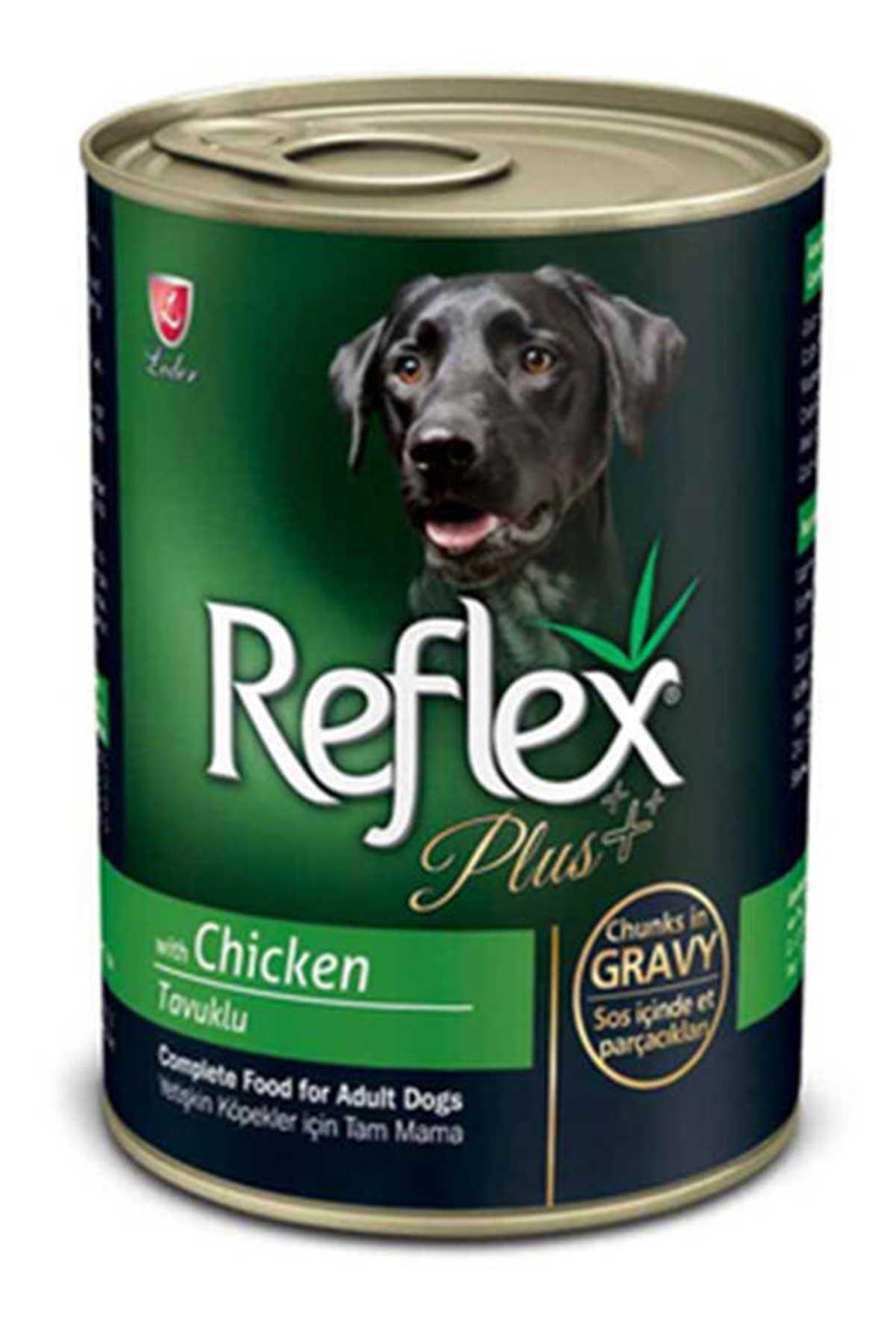 Reflex Plus Gravy Tavuklu Parça Etli Yetişkin Köpek Konservesi 400gr