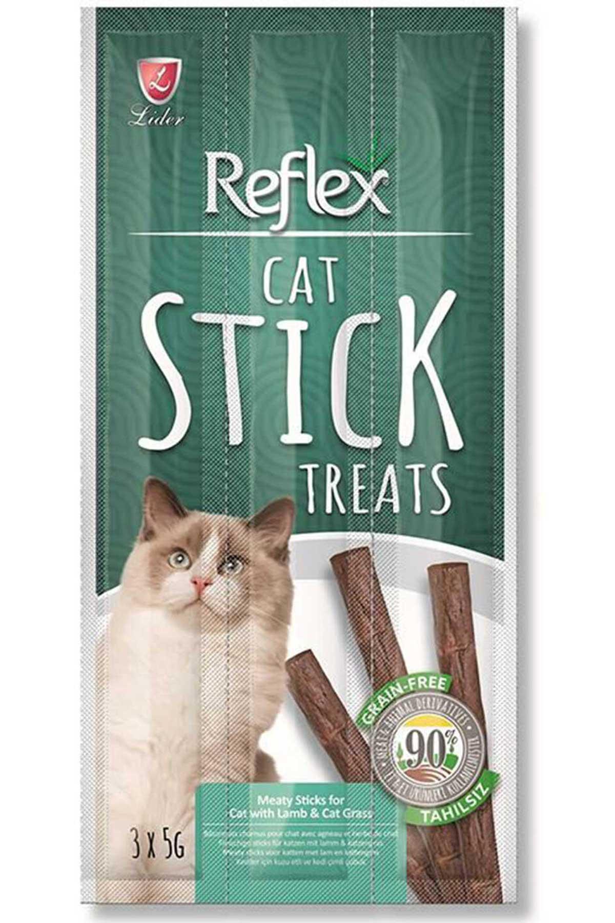 Reflex Stick Kuzu Eti ve Kedi Otlu kedi Ödül Çubuğu 3x5gr