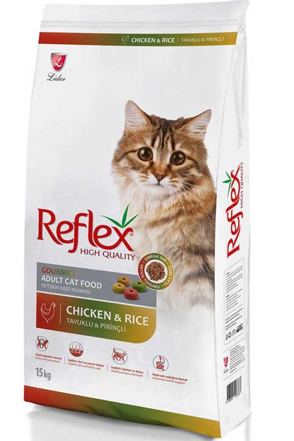 Reflex Tavuklu Renkli Taneli Yetişkin Kedi Maması 15kg