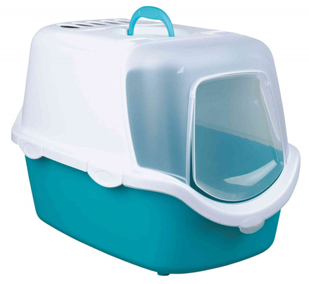 Trixie Kapalı Kedi Tuvalet 40×40×56cm Akuamarin - Thumbnail