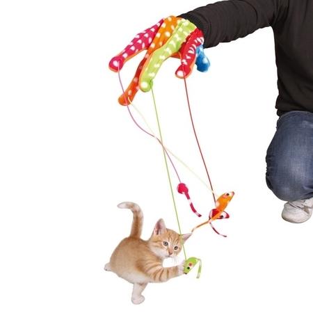 Trixie Renkli Kedi Oyun Eldiveni - Thumbnail