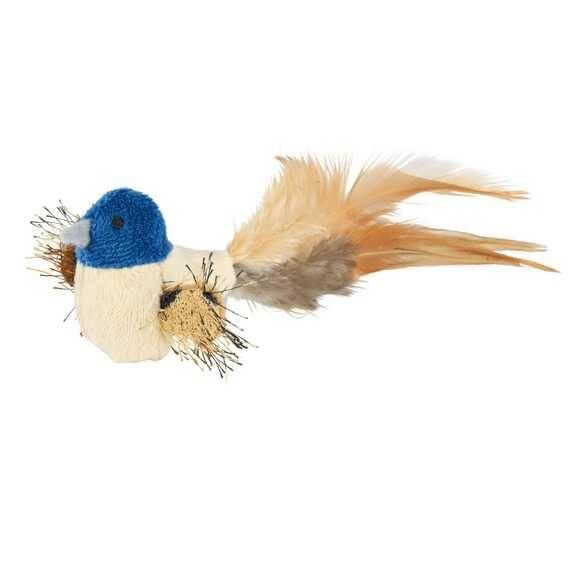 Trixie Kedi Oyuncağı Peluş Kuş Tüy Kuyruklu 8cm