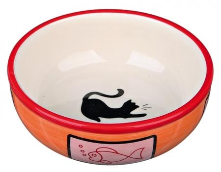 Trixie Kedi Seramik Mama ve Su Kabı 0,35lt 12,5cm - Thumbnail