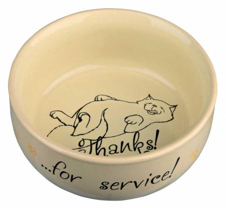 Trixie Kedi Seramik Mama Su Kabı 0,3lt 11cm - Thumbnail