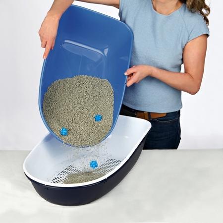 Trixie Kedi Tuvaleti, Elekli, K.Gri 39×22×59cm - Thumbnail