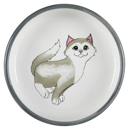 Trixie Kısa Burunlu Kedi Seramik Mama ve Su Kabı - Thumbnail