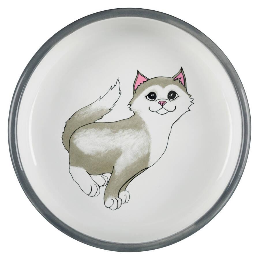 Trixie Kısa Burunlu Kedi Seramik Mama ve Su Kabı